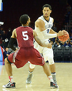 Villanova's Josh Hart (3) attempts a pass as IUP's (5) defends in the first half Saturday, November 5, 2016 at the Wells Fargo Center in Philadelphia, Pennsylvania. (WILLIAM THOMAS CAIN / For The Philadelphia Inquirer)