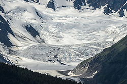 The Saksaia Glacier sits at the top of the Glacier Creek valley near the location of the potential mine site being explored by Constantine Metal Resources Ltd. of Vancouver, British Columbia along with investment partner Dowa Metals &amp; Mining Co., Ltd. of Japan. The area of exploration, known as the Palmer Deposit is located near mile 40 of the Haines Highway and the Porcupine placer gold mining area near Haines, Alaska.<br /> <br /> The minerals that Constantine&rsquo;s drilling explorations have found are primarily copper and zinc, with significant amounts of gold and silver. Exploratory drilling to refine the location and mineral amounts are the current focus of the company.<br /> <br /> If approved and developed, the mine would be an underground mine. Besides the actual ore deposits, having the nearby highway access for transporting ore to the deepwater port at Haines is also attractive to Constantine.<br /> <br /> Support for a large scale mine such as the Constantine project is divided among residents of Haines, a small community in Southeast Alaska 75 miles northwest of Juneau. The community&rsquo;s needed economic boost from jobs, development and other mine support that a large-scale mine brings is tempting to some. To others, anything that might put the salmon spawning and rearing habitat and watershed resources at risk is simply unimaginable and unacceptable. Of particular concern is copper and other heavy metals in mine waste leaching into the Klehini and Chilkat River. Copper and heavy metals are toxic to salmon and bald eagles.<br /> <br /> The Chilkat River chum salmon are the primary food source for one of the largest gatherings of bald eagles in the world. Each fall, bald eagles congregate in the Alaska Chilkat Bald Eagle Preserve, located only three miles downriver from the area of current exploration. At times more than 3,000 eagles have been recorded at the primary gathering area for the fall chum salmon run.