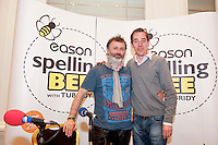 Tommy Tieranan and Ryan Tubridy at the Eason Spelling Bee in the Hotel Meyrick, Galway from where Ryan Tubridy's  show was broadcast . Photo:Andrew Downes..