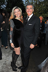 LISA TCHENGUIZ and STEVE VORSARI at the annual Serpentine Gallery Summer Party sponsored by Burberry held at the Serpentine Gallery, Kensington Gardens, London on 28th June 2011.