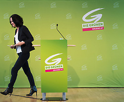 21.04.2017, Urania, Wien, AUT, Grüne, Sitzung des erweiterten Bundesvorstandes. im Bild Grüne Klubobfrau Eva Glawischnig // Leader of the parliamentary group the greens Eva Glawischnig <br /> during board meeting of the greens in Vienna, Austria on 2017/04/21. EXPA Pictures © 2017, PhotoCredit: EXPA/ Michael Gruber