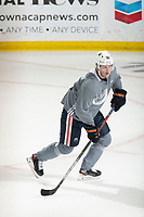 KELOWNA, BC - SEPTEMBER 22:  Joel Persson #36 of the Edmonton Oilers practices at Prospera Place on September 22, 2019 in Kelowna, Canada. (Photo by Marissa Baecker/Shoot the Breeze)