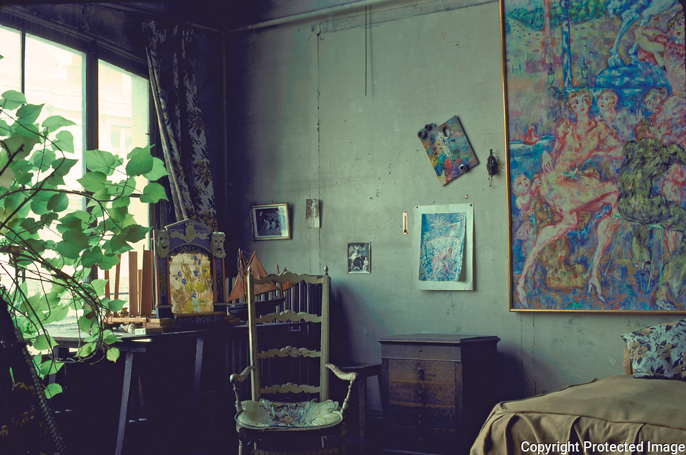 An typical artist's atelier in Paris's Place Pigalle in the Montmartre district. This happened to belong to a painter who was a winner of the Prix di Rome prize foe painting.