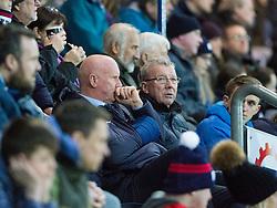 Falkirk's manager Peter Houston. Falkirk 0 v 1 Morton, Scottish Championship game played 18/3/2017 at The Falkirk Stadium.