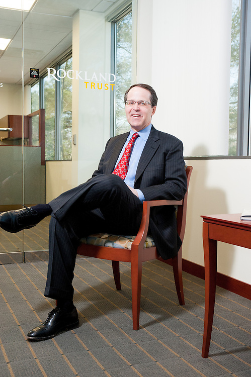 Rockland Trust CEO Chris Oddleifson photographed at the bank's office's for Banking New England.