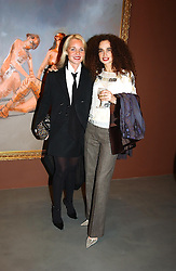 Left to right, AMANDA ELIASCH and DANIELLE MOUDABBET at an exhibition of paintings by artist George Condo entitled 'Religious Paintings' held at the Spruth Magers Lee Gallery, 12 Berkeley Street, London W1 on 12th October 2004.<br />