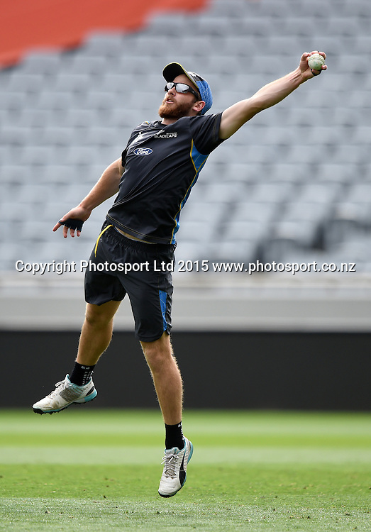 Kane Williamson during training at Eden Park in Auckland ahead of the semi final Cricket World Cup match against South Africa tomorrow. Monday 23 March 2015. Copyright photo: Andrew Cornaga / www.photosport.co.nz