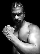 David Haye prepares to explode onto the Heavyweight division during an exclusive photo shoot at the Third Space Gym in Soho, London, 24th July 2008...Image also available in colour, contact pictures@clevamedia.com.