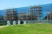 New Building Construction on Campus at Soka University