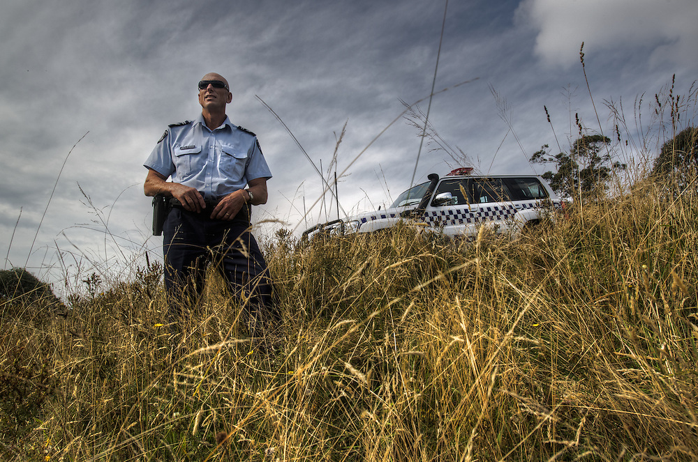 Mitta Mitta, one policeman town. Following the working life of Leading Senior Constable John Kissane. Pic By Craig Sillitoe CSZ/The Sunday Age.27/03/2012 melbourne photographers, commercial photographers, industrial photographers, corporate photographer, architectural photographers, This photograph can be used for non commercial uses with attribution. Credit: Craig Sillitoe Photography / http://www.csillitoe.com<br /> <br /> It is protected under the Creative Commons Attribution-NonCommercial-ShareAlike 4.0 International License. To view a copy of this license, visit http://creativecommons.org/licenses/by-nc-sa/4.0/.