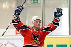 Jan Loboda of HK Prevoje celebrating victory at IZS Masters 2010 inline hockey final match between HK Prevoje and Kavke Kranj, on June 12, 2010, in Ice Hall, Kranj, Slovenia. (Photo by Matic Klansek Velej / Sportida)