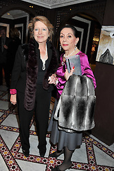Left to right, LADY DEBEN and at the Inspiring Morocco launch held at Harrods, Knightsbridge, London on 3rd November 2011.