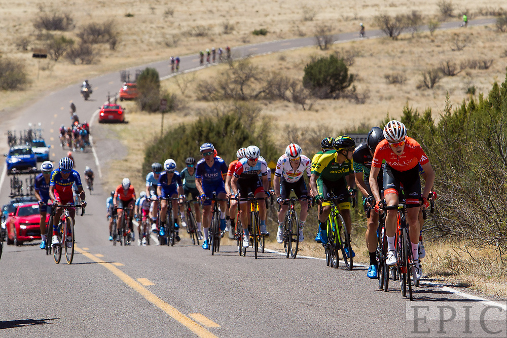 SILVERY CITY, NM - APRIL 18: Robert Britton (Rally Cycling) gets on the front at the base of the final climb of stage 1 of the Tour of The Gila on April 18, 2018 in Silver City, New Mexico. (Photo by Jonathan Devich/Epicimages.us)