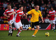 London - Saturday, January 3rd, 2009: Matt Holland of Charlton Athletic and Lee Croft of Norwich City during the FA Cup Third Round match at The Valley, London. (Pic by Alex Broadway/Focus Images)
