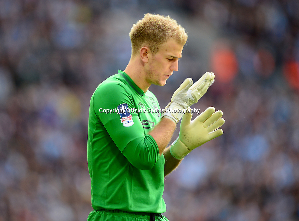 11th May 2013 - The FA Cup Final  - Manchester City v Wigan Athletic - A dejected Joe Hart of Manchester City - Photo: Marc Atkins / Offside.