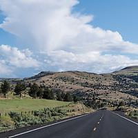 Open road near Fossil, Oregon