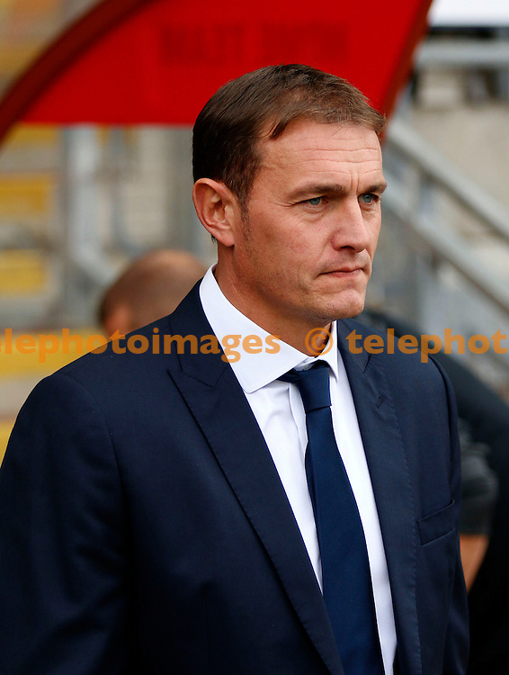 Leyton Orient manager, Ian Hendon during the Sky Bet League 2 match between Leyton Orient and Oxford United at the Matchroom Stadium in London. October 17, 2015.<br /> Carlton Myrie / Telephoto Images<br /> +44 7967 642437