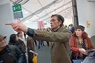 UK. London. The Frieze Art Fair in Reagent's Park. Photo shows statue of artist Erling T.V. Klingenberg..Photo by Steve Forrest