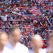The USA team sing the National Anthem along with their supporters before the US Men's National Team Vs Turkey friendly match at Red Bull Arena.  The game was part of the USA teams three-game send-off series in preparation for the 2014 FIFA World Cup in Brazil. Red Bull Arena, Harrison, New Jersey. USA. 1st June 2014. Photo Tim Clayton