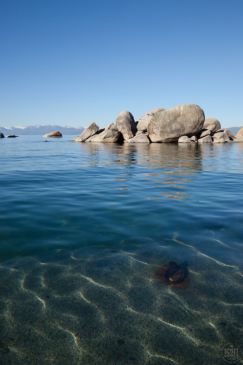 """Boulders on Lake Tahoe 22"" - These boulders were photographed in the morning near Speedboat Beach, Lake Tahoe."