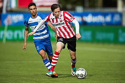 (L-R) Younes Namli of PEC Zwolle, Craig Goodwin of Sparta Rotterdam during the Dutch Eredivisie match between Sparta Rotterdam and PEC Zwolle at the Sparta stadium Het Kasteel on August 20, 2017 in Rotterdam, The Netherlands