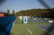 Mouratoglou Tennis Academy M.T.A Sophia Country Club, Biot, FRA.<br /> looking through the fence,<br /> <br />  - Mouratoglou Tennis Academy  -  -   Sophia Country Club, - Biot -  - Frankreich  - 25 July 2016. <br /> &copy; Juergen Hasenkopf