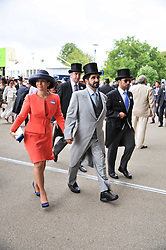 Sheikh Mohammed Bin Rashid Al Maktoum and Princess Haya bint al-Hussein of Jordan at day 2 of the 2011 Royal Ascot Racing festival at Ascot Racecourse, Ascot, Berkshire on 15th June 2011.