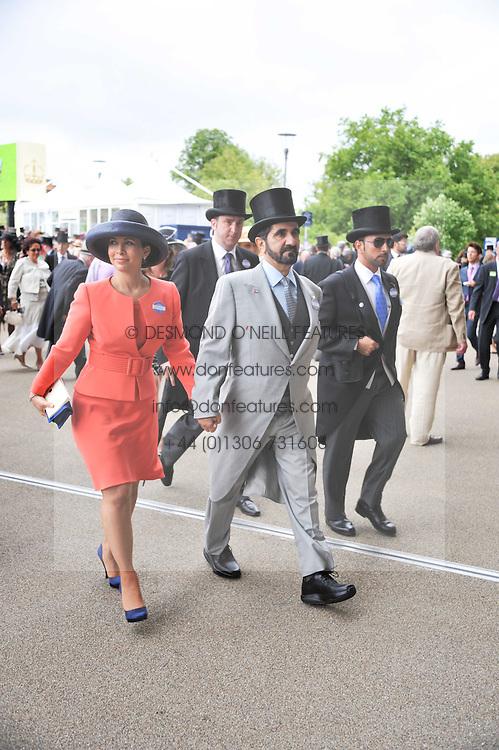 Sheikh Mohammed Bin Rashid Al Maktoum and Princess Haya bint al-Hussein of Jordan at day 2 of the 2011 Royal Ascot Racing festival at Ascot Racecourse, Ascot, Berkshire on 15th June 2011.