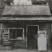 Old Service Station, Woods Point<br /> <br /> Printed using the Gum Bichromate process
