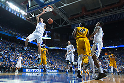 Kentucky forward Derek Willis goes coast to coast for a slam in the second half.<br /> <br /> The University of Kentucky hosted the University of Missouri, Wednesday, Jan. 27, 2016 at Rupp Arena in Lexington .