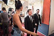 *** MANDATORY BYLINE TO READ: Syco / Thames / Dymond ***<br />Behind the scenes production photos of the 2017 Britain's Got Talent TV show. The new show starts on ITV this Saturday April 15th.<br /><br />Pictured: Ant and Dec<br />Ref: SPL1477423  260217  <br />Picture by: Syco / Thames / Dymond