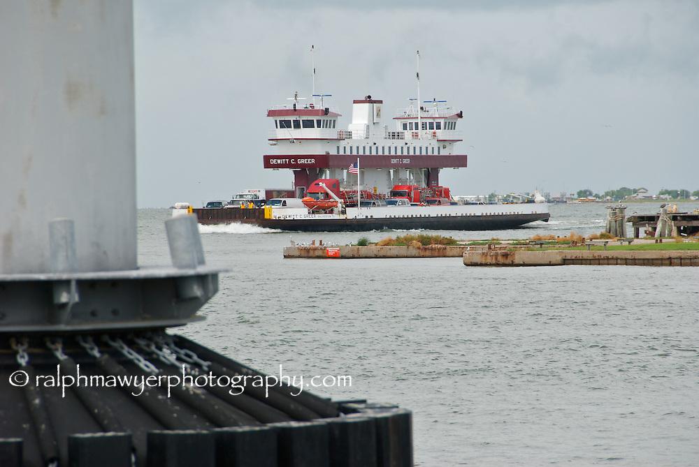Dewitt C. Greer Ferry Texas state ferry operating between Galveston Island and Bolivar Peninsula, Texas.