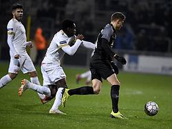 December 23, 2018 - France - Joseph Paintsil forward of Genk, Alessio Castro Montes midfielder of Eupen (Credit Image: © Panoramic via ZUMA Press)
