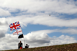 Motorsports / Formula 1: World Championship 2010, GP of Great Britain, fans, spectators, flag, Fahne, Flagge,