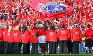 Munster Team Mascot and Munster Supporters Choir during the European Rugby Champions Cup match at Thomond Park, Limerick<br /> Picture by Yannis Halas/Focus Images Ltd +353 8725 82019<br /> 01/04/2017