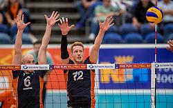 24-09-2016 NED: EK Kwalificatie Nederland - Wit Rusland, Koog aan de Zaan<br /> Nederland verliest de eerste twee sets / Kay van Dijk #12, Jasper Diefenbach #6