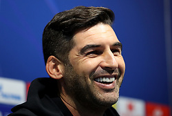 Shakhtar Donetsk head coach Paulo Fonseca during the press conference at the Etihad Stadium, Manchester.