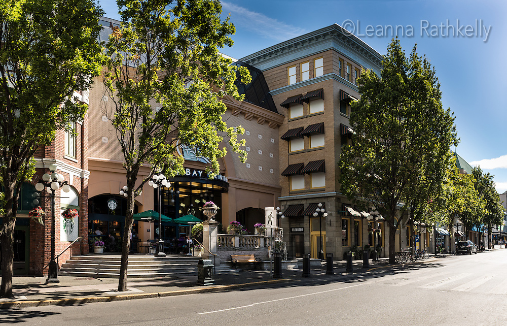 The Bay Centre in downtown Victoria, BC opened in 1989 and features a variety of facades to fit into the centuries-old city core.
