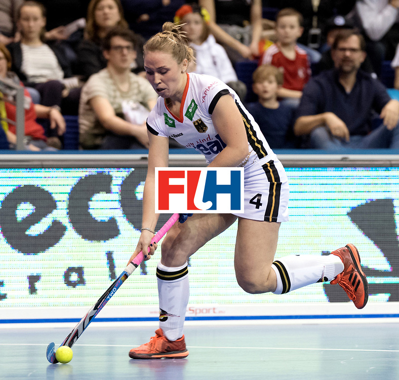 BERLIN - Indoor Hockey World Cup<br /> Semi-final: Belarus - Germany<br /> foto: Nike Lorenz.<br /> WORLDSPORTPICS COPYRIGHT FRANK UIJLENBROEK