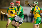 NHL Division 2B at Trim, 6th March 2016<br /> Meath vs Donegal<br /> Stephen Clynch  (Meath) & Justin McGhee (Donegal)<br /> Photo: David Mullen /www.cyberimages.net / 2016