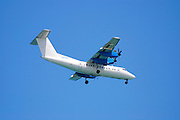 Arkia Airlines Dash 7 passengers Propellor aeroplane side view