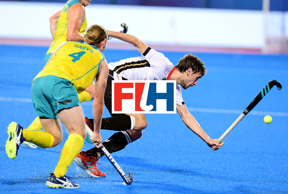 Odisha Men's Hockey World League Final Bhubaneswar 2017<br /> Match id:20<br /> Australia v Germany<br /> Foto: Florian Fuchs (Ger) and Jake Harvie (Aus) <br /> COPYRIGHT WORLDSPORTPICS FRANK UIJLENBROEK