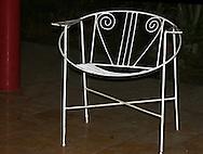 Chair in Santa Fe, Havana, Cuba.