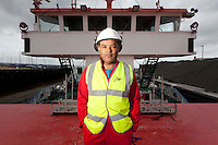 112112/6 Sea People Project - Joe Dos Santos, Chief Engineer, Union Transport Group plc photographed onboard Union Pluto at Whitstable Harbour