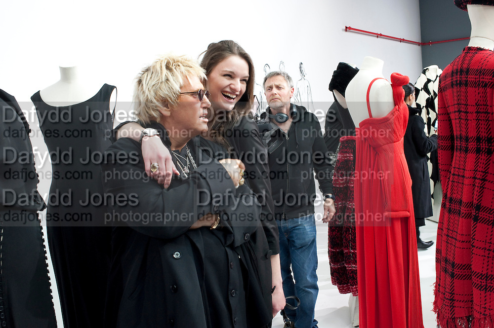 JUSTIN DAVIES; KATARINA SMUTOK, Yohji Yamamoto exhibition opening. V & A Museum. London. 10 March 2011. -DO NOT ARCHIVE-© Copyright Photograph by Dafydd Jones. 248 Clapham Rd. London SW9 0PZ. Tel 0207 820 0771. www.dafjones.com.