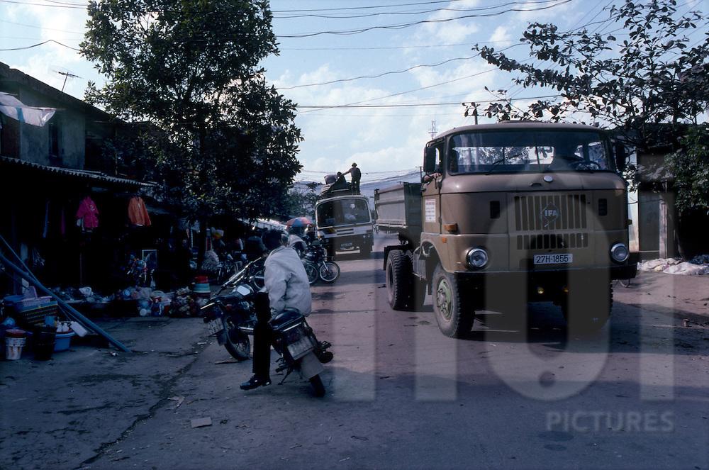 Truck in Binh Lu city close from Sapa