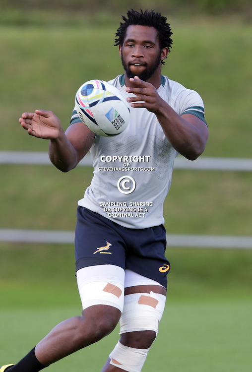 BIRMINGHAM, ENGLAND - SEPTEMBER 21: Siya Kolisi  during the during the South African national rugby team training session at University of Birmingham on September 21, 2015 in Birmingham, England. (Photo by Steve Haag/Gallo Images)