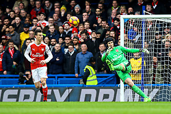 Petr Cech of Arsenal kicks the ball clear - Mandatory by-line: Jason Brown/JMP - 04/01/2017 - FOOTBALL - Stamford Bridge - London, England - Chelsea v Arsenal - Premier League