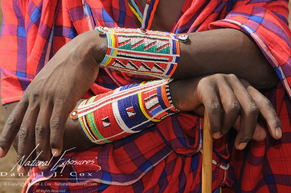 Masai at their village in Amboseli National Park, Kenya.