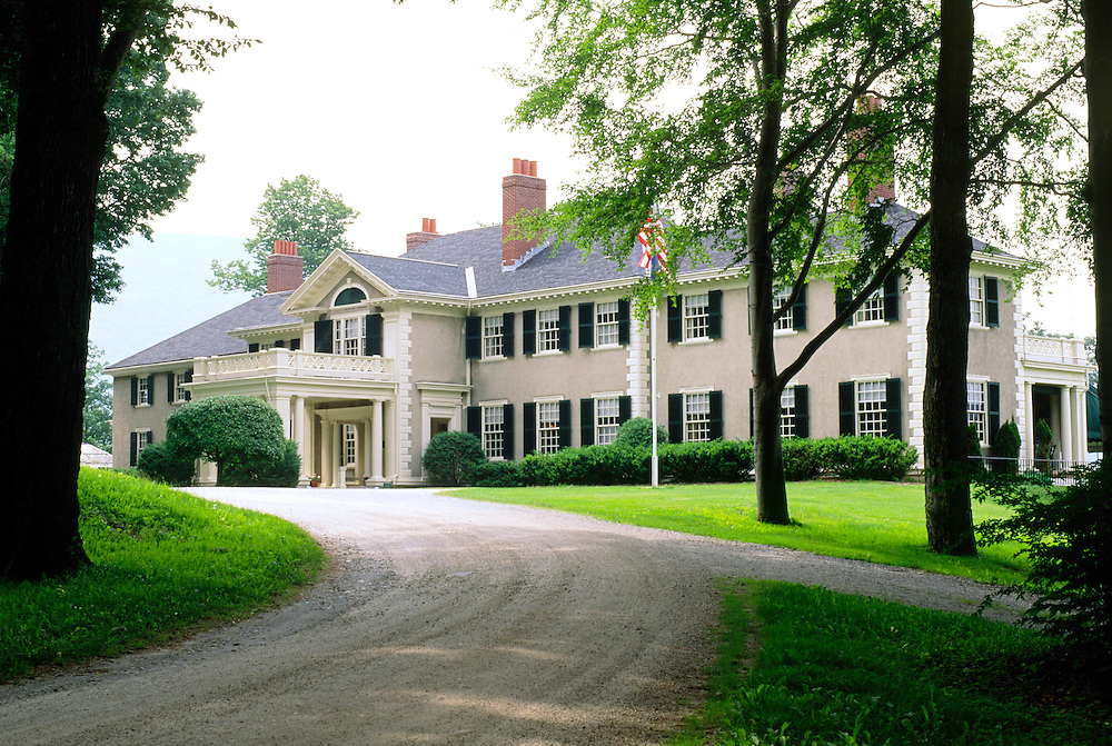 Hildene mansion house near Manchester, Vermont, USA. Built 1905 as home to Robert Todd Loncoln, son of Abraham Lincoln
